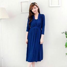 Wholesale M L XL Luxury Long Maternity Skirt Lactation Dress for Feeding Breastfeeding Dress for Pregnant Women