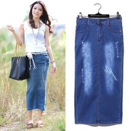 Denim long skirt online – Dress and bottoms