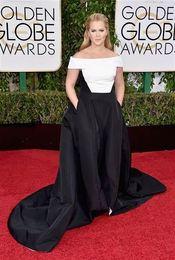 Wholesale 2016 Nueva Amy Schumer a Premios de Golden Globe vestidos de noche formal del hombro Vestidos de celebridad de la alfombra roja de la fiesta de Long Vestidos