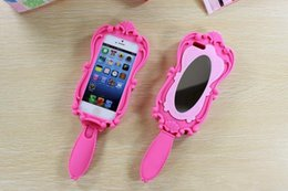 Wholesale 2016 hot Magic Cosmetic Mirror and D Girl Beautiful Doll Pink Soft Silicone GEL Case for iPhone S S s Plus inch