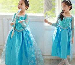 Wholesale Frozen Elsa Winter Clothing Girls Princess Party dress Causal Christmas gifts cosplay Costume Girl Clothes Dresses