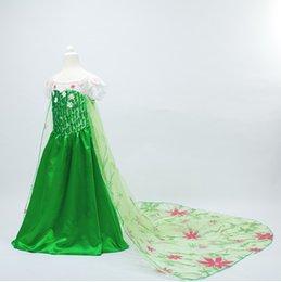 Wholesale BBA3355 samgami baby Frozen fever dress elsa dress princess Elsa costume Frozen cosplay dress Princess Elsa dress Kids princess dress