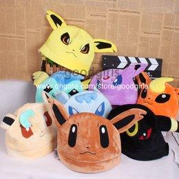 Wholesale Anime Cartoon Pokemon Sylveon Umbreon Eevee Espeon Plush Hat Winter Hat Cosplay Hats Custume ANHT035