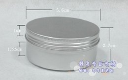 Wholesale g Aluminum Cosmetic Jar Container Screw Thread High Quality ml Makeup Container Factory