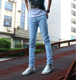 Modern dress male - Jeans Male Slim Pants Male Elastic Tight Pencil Skinny Pants Jeans Men