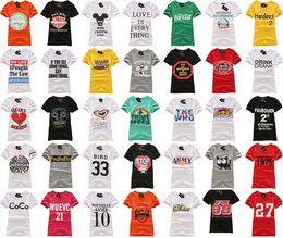 Wholesale Women T Shirt sweet lady cotton cartoon print tees Blouses Shirts girl summer beach short seleeve t shirts clothing many styles gifts