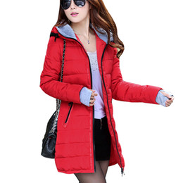Wholesale Winter Coat Women New Women Winter Jacket For Women Hooded Long Section Down Coat Slim Waist Thick Parkas Outwear