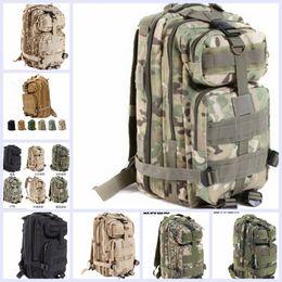 9 color de deporte al aire libre del alpinismo de camuflaje militar bolsa 3p morral táctico de Molle portátil mochilas bolsa de camping trekking TOPB1914 50PCS
