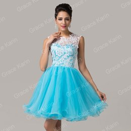 Wholesale Grace Karin New Arrive Fashion Bridal Short Prom Homecoming Party Ball Gown Cocktail Party Bridesmaid Dress CL6123