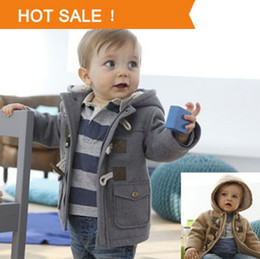 Baby Boys Jacket Clothes New Winter 2 Color Outerwear Coat Thick Kids Clothes Children Clothing With Hooded Retail Hot