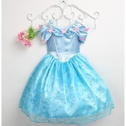 Wholesale 2015 Hot Sale Cinderella Princess Dresses New Cute Colorful Butterfly Girls Party Dresses Children Cosplay Dresses Sequins Fashion Dresses