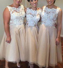 Discount Short Beige Bridesmaid Dress   2017 Short Beige ...
