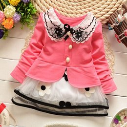 Wholesale New High Quality Cotton Gauze Girls Dresses Tulle Lace Baby Girl Gauze Princess Dress