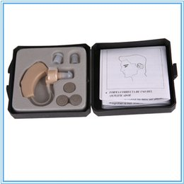 Wholesale Best Hearing Aids Digital Volume Adjustable Sound Amplifier Listening Aid Behind Ear With Batteries Whole Sale