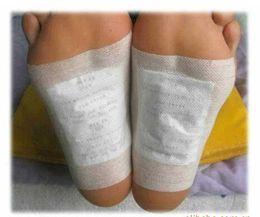Розничная коробка! 1Boxes Очищающий ноги Detox Kinoki колодки Чистят Потренируйтесь Your Body (1lot = 1Box = 20шт = 10шт Патчи + 10шт Бесплатная доставка DHL 6129