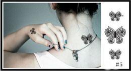 Wholesale 5pcs pack Hot Sale Temporary Tattoo Stickers Temporary Body Art Supermodel Stencil Designs Waterproof Tattoo Pattern