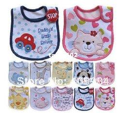 Wholesale Mixed style cotton baby bibs waterproof infant bibs for girl boy