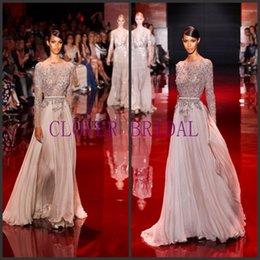 Wholesale 2016 Zuhair Murad Luxury Vintage Sexy V Neck Elegant Major Beading Mermaid Evening Dress With Floor Length Prom Dress