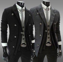 Wholesale Men Slim Double Placket Double breasted Suit