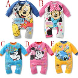 Wholesale 2013 Baby Romper newborn Rompers cotton Children s Clothing Baby girl boy Mickey Minnie Spiderman car Kids Rompers Duck