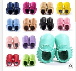 Wholesale Tassels Colors PU Leather Baby Shoes Moccasin Newborn Shoes Soft Infants Crib Shoes Sneakers First Walker