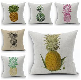 Fruit Pineapple Sofa Throw Pillow Case Creative Plant Cojines Decorative  Almofada Yellow Hot Pink Blue Cojin Home Decor
