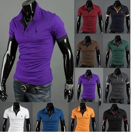 Wholesale 2015 Summer Short Sleeve Men polo t shirts Hot Fashion Ralph Men tops tee Cotton slim embroidery Men s polo Casual t shirt Colors PL