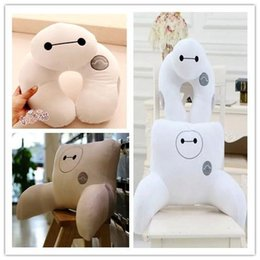Wholesale Cartoon toys Big Hero U shape Neck Pillow Back Pillow set Baymax Stuffed Plush dolls Office Car pillows Children s Gifts Free Shippin