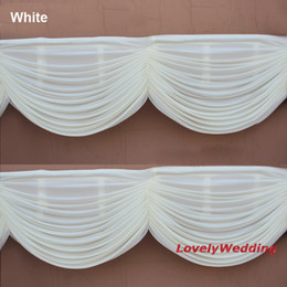 Wholesale High quality drape swag to attach ice Silk Wedding Backdrops home curtain swag