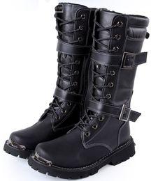 Discount Black High Heel Combat Boots   2017 Black High Heel ...