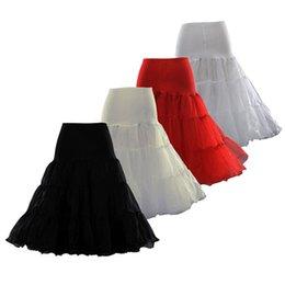 Wholesale 2016 New Arrivals Tea Length Short Knee Swing Skirt Prom Silps Crinoline Bridal Petticoat Underskirt