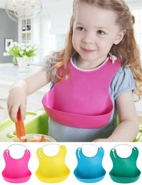 Wholesale Hot Sale Baby Bibs Plastic Bib Infant Feeding Cloth Baby Kids Burp Waterproof Bandana Bib Towel Washable Bibs Mix Colors BBB