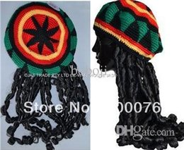 Jamaican Halloween Costume rasta costume costume jamaica bal rat rat mort costumes 2 jamaican crazy carnival Wholesale Jamaican Rasta Fancy Dress Party Costume Knitting Hat With Plait Hippie Beret Halloween Handmade Crochet Cap With Dreadlocks Wig
