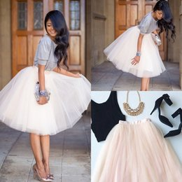 Wholesale Fashion Women Tutu Skirt Puffy Short Party Dresses A Line Tulle Bridesmaid Dresses Prom Gowns Jupe Saias Femininas Cocktail Bohemia