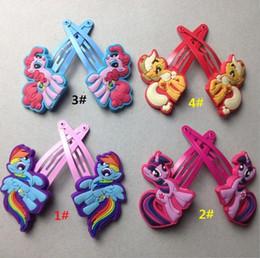 Wholesale My little pony hair clips New joy pony bao li pin my little pony cartoon headdress Doll accessories YY258