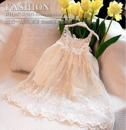 Wholesale baby girl kids frozen dress elsa anna flower floral tutu dress crochet crocheted hollow embroidery lace dress princess long beach dress