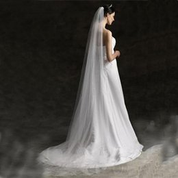 Wholesale One Layer Bridal Veils meters Chapel Length Cut Edge Tulle Wedding Veils
