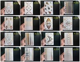 Wholesale over DHL FEDEX ARAMEX Temporary Tattoo And Flash Metallic Jewelry Tattoos Bracelet Tattoos Price