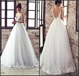 Wholesale 2015 Julie Vino Bridal Gowns New Design Sweetheart Spaghetti Starp Ball Gown Lace Backless Wedding Dresses