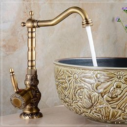 Marvelous 2017 Ceramic Art Basin Newly Luxury Classic Art Carve Bathroom Basin Faucet  Antique Brass Vessel Sink
