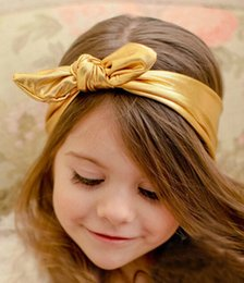 Wholesale Headband Headwrap kids child metallic knot rabbit ear headbands Bandanas Children s Hair Accessories