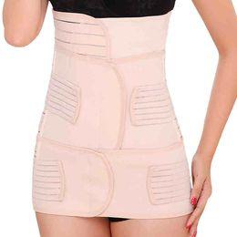 Wholesale Three piece breathable Women s Postpartum Corset Belt Waist support Trimmer Belt Body Shaper Tummy