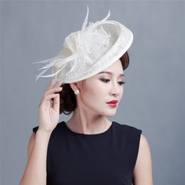 Wholesale 6pc Lady Feathers Floral Headband Fascinator Disc Millinery Cocktail Hat colors