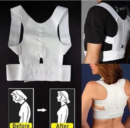 Wholesale 200pcs OPP bag packing Magnetic Posture Support Corrector Back Pain Feel Belt Brace Shoulder