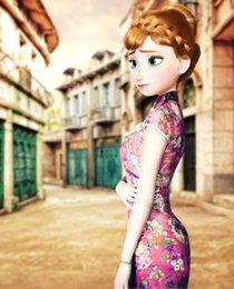 Wholesale Cheongsam for women what happen when Elsa Anna wearing the Cheongsam