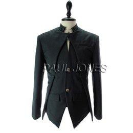 Wholesale HOT FASHION Mens WINTER Slim Fit Stunning Asymmetric Design Blazer Coats Jackets CL7340