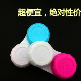 Wholesale blue red mixed color Contact Lens Case Colorful contact lens cases hot sale