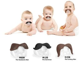 Wholesale Novelty Funny Mustache Baby Boy Girl Infant silicone Pacifier Orthodontic Dummy Beard Nipples BY0000