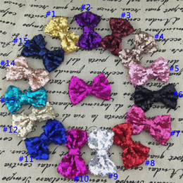 Wholesale quot Sequin Hairbows WITH Alligator CLIP for Baby Girl Hair Accessory Sequin Hair Bows