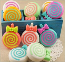 Wholesale Hot Candy Contact Lens Mate Box Candy Lollipops Fashion Contact Lens Case Contact Lens Accessories